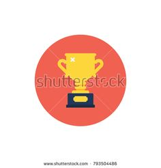 Trophy icon. Modern flat style vector illustration.