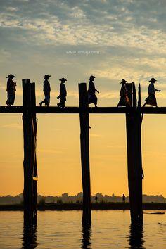 U Bein Bridge ( Myanmar)