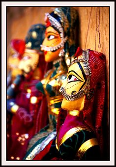 This photo from Rajasthan, West is titled 'Rajathani Puppet ( Kathputli )'. Indian Arts And Crafts, States Of India, Puppet Crafts, India Culture, Tribal People, Jaisalmer, Indian Heritage, Rajasthan India, New Year Celebration