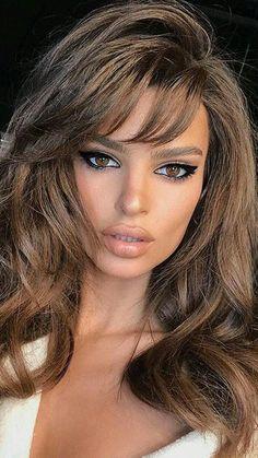 Sexy Makeup, Beauty Makeup, Hair Makeup, Hair Beauty, Makeup Eyes, Natural Makeup For Brown Eyes, Makeup Looks For Brown Eyes, Bombshell Makeup, Brunette Makeup