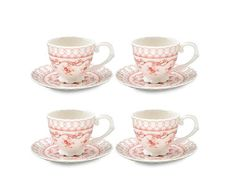 Gracie China Pink Vine Porcelain 7-Ounce Tea Cup And Saucer, Set Of 4, 2015 Amazon Top Rated Saucers #Kitchen