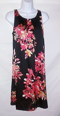 Dana Buchman NEW Multi-Color Floral Sleeveless Lined Shift Dress Ladies M