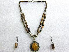 Bohemian Jewelry Pendant Necklace 2-strands Tiger Eye Beaded German Silver Necklace Earring Set - Brings Understanding and Discernment mogul interior, http://www.amazon.com/dp/B008356NH8/ref=cm_sw_r_pi_dp_Tr8Kqb1Q2G20B