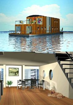 Now that's a houseboat!!