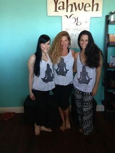 "Fun day at Yaweh Yoga with Yoga Journal's cover model and fabulous Yogini,  "" Elinore Cohen""!"