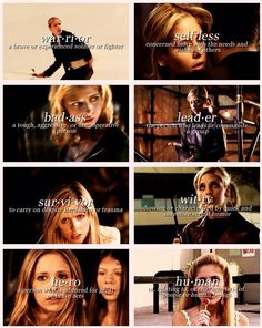 Buffy is honestly such a badass character, and amazing person and an inspiration to women everywhere