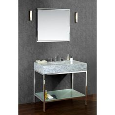 "Brightwater 36"" Single-sink Bathroom Vanity Set - Overstock™ Shopping - Great Deals on Ariel Bathroom Vanities"