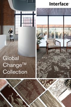 Mirroring the transitional beauty of the natural world, the Global Change™ Collection embraces contrast. Light and dark, day and night, these organic patterns and linear textures create a truly unique range that is designed to be mixed and matched, bringing depth and dimension to your space. Product available in North and South America and Asia Pacific. #BiophilicDesgin #InteriorDesign #Flooring #CarpetTile