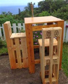 Muebles de palets: Instrucciones paso por paso para hacer unos taburetes con palets