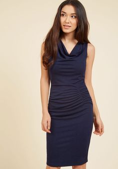 What've You Got to Ruche? Sheath Dress in Navy, #ModCloth