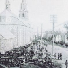 Rimouski Cathédrale circa 1920 Circa, Genealogy, Paris Skyline, Canada, Times, Photos, Travel, Pictures, Viajes