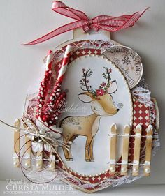 Christa's Scrappies: DT-All Dressed Up Challenge 55 ChristmasDeer