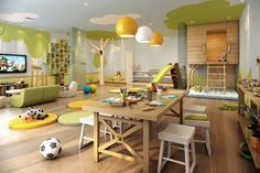 cool Colorful Contemporary Playroom Ideas: 99+ Inspiration Decor http://www.99architecture.com/2017/04/06/colorful-contemporary-playroom-ideas-99-inspiration-decor/
