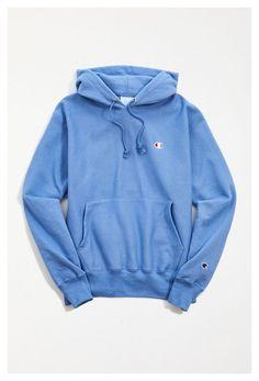 Hoodies For Teens, Stylish Hoodies, Cool Hoodies, Cute Sweatshirts, Colorful Hoodies, Blue Champion Hoodie, Vintage Champion Hoodie, Champion Clothing, Neue Outfits