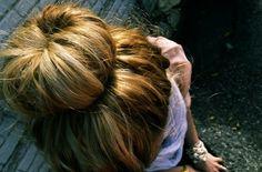 DIY sock bun - Click image to find more Hair & Beauty Pinterest pins
