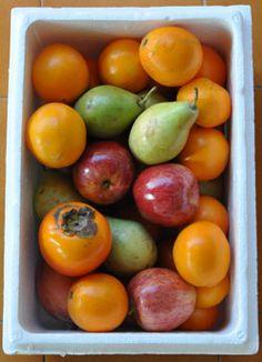 Caja combinada de frutas de otoño