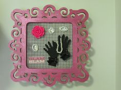 2nd idea is this home décor frame using PS bows, flower and faux diamonds.