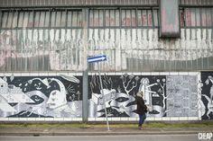 Guerrilla Spam, Bologna, la Bolognina raccontata con la poster art: un murale di carta di 120 metri quadrati