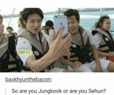 Image discovered by Find images and videos about kpop, bts and exo on We Heart It - the app to get lost in what you love. Jungkook Jeon, Bts Bangtan Boy, K Pop, Pop Kpop, Bts Twt, Xiuchen, Exo Memes, Funny Memes, Bts And Exo