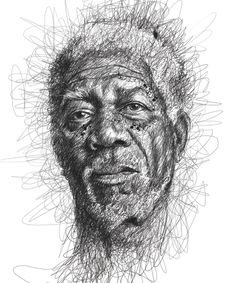 Celebrity Portraits Made from Scribbles by Vince Low (9 Pictures)