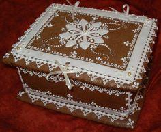 Cookie Box, Cookie Icing, Christmas Gingerbread House, Christmas Cookies, Bolacha Cookies, Elegant Cookies, Valentine Cookies, Edible Gifts, Halloween Cookies