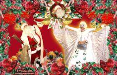 """""""Der Weihnachtsmann vom Nordpol"""" mit seiner Weihnachtsfrau, seinem Weihnachtsengel, Nikolaus, Santa Claus, ..."""