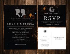 Another invitation option!          Star Wars Wedding Invitations Printable OR set of 25