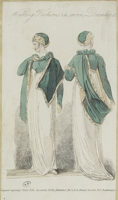 Interesting attached shawl. Belle Assemblee 1808