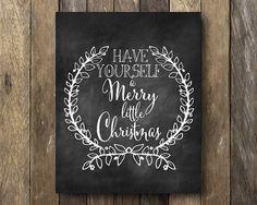 Room art Christmas digital print Christmas by PaperCrownShoppe