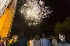 Fontana fuochi d'artificio matrimonio