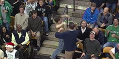 Incredible Guy Dances In Basketball Game