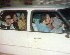 June 17, 1977: Elvis, Ginger Alden and Lisa Marie leaving Graceland heading to opening night in Springfield, MO, on his final tour.