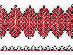 Huck weaving or embroidery