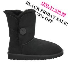 UGG Bailey Button 5803 Boots Black - Black Friday discount sale 78% off ,only sale: $39