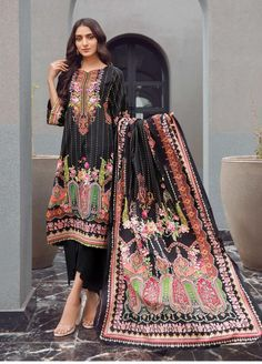 Firdous Fashion Printed Lawn Unstitched 3 Piece Suit FR20L-1 731B - Spring / Summer Collection
