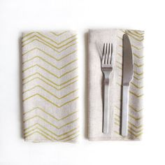 chika eustaces & jean lee: gold chevron napkins set of 2. currently only $22.50 on fab.com