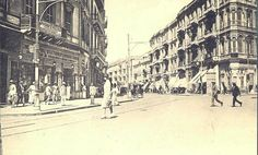 Alexandria Street in or Old Egypt, Egypt Art, Tahrir Square, Alexandria Egypt, Military Coup, Countries Of The World, Vintage Pictures, Cairo, 1930s