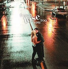 """I can't lose you too""... and kissing in the middle of the road is such a surefire way to stay alive!"