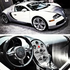 Cool white/silver Bugatti Veyron inside and out!! Sweet!