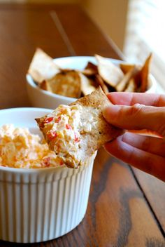 Homemade pimento and Cheese! yum!!  4 oz. (1/2 package) cream cheese, softened  1 cup grated sharp cheddar  1 cup grated Monterey Jack cheese  1/4 cup mayonnaise  2 1/2 tablespoons pimentos, chopped  1/4 tsp. kosher salt  1/8 tsp. ground black pepper  1/8 tsp. garlic powder