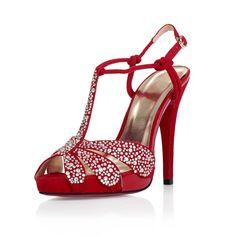 High Heel Sandals Rhinestones Peep Toes