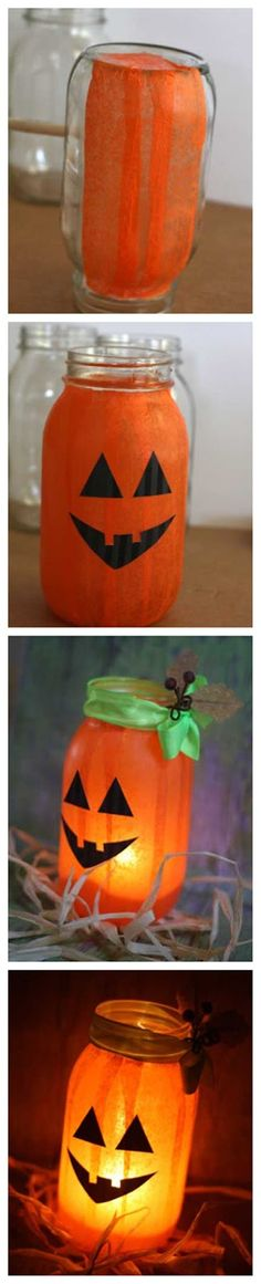 DIY Pumpkin Luminary Halloween Decorations How cute to light your walkway for trick or treaters! Also do snowmen. Holidays Halloween, Fall Halloween, Halloween Crafts, Happy Halloween, Halloween Party, Winter Holidays, Fall Crafts, Holiday Crafts, Holiday Fun