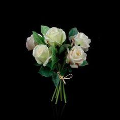 Bouquet de rose artificielle blanche Caroline