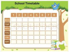 School Timetable Template For Kids  Timetable Templates For