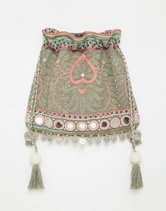 Star+Mela+Embroidered+Across+Body+Bag+with+Metal+Disc+Tassel+Trim