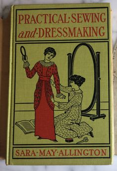 1913 Antique Dressmaking Book with Drafting Chart by RumbleSeatCat