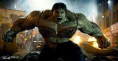 Hulk wearing a bra