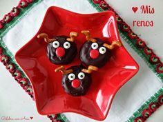 Donuts de renos de navidad