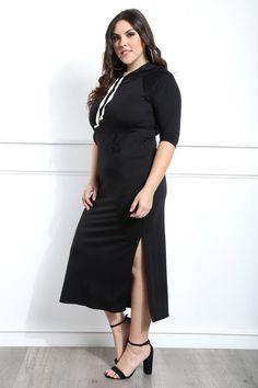 Casual Cutie Plus Size Maxi Hooded Dress Dresses GS LOVE