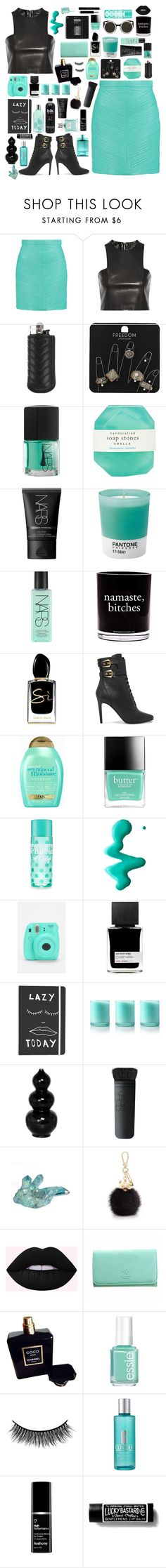 """""""Need Me"""" by dailyoutfits0113 ❤ liked on Polyvore featuring Balmain, Ateliers Ruby, Topshop, NARS Cosmetics, Pelle, Pantone, Damselfly Candles, Giorgio Armani, Organix and Butter London"""